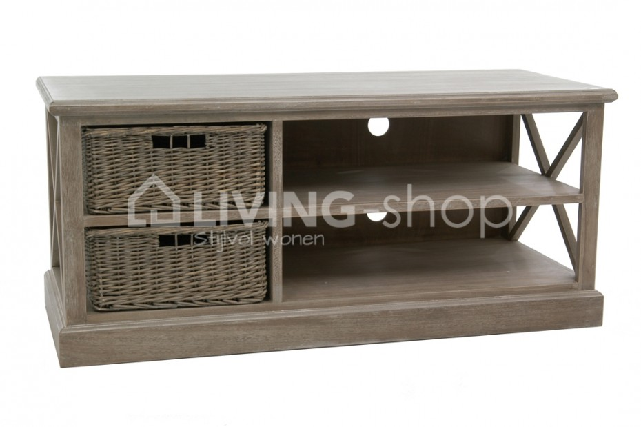 Country Style Tv Cabinets With Baskets