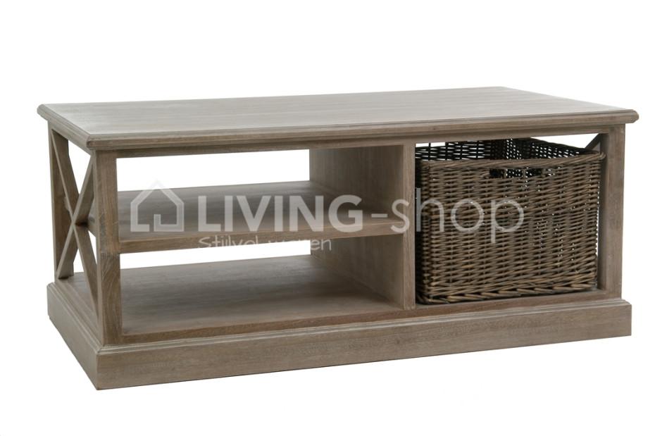 Table basses avec panier table salon rustique en ligne for Table basse panier