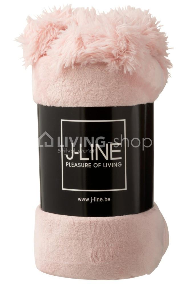 plaid-pompons-oud-roze