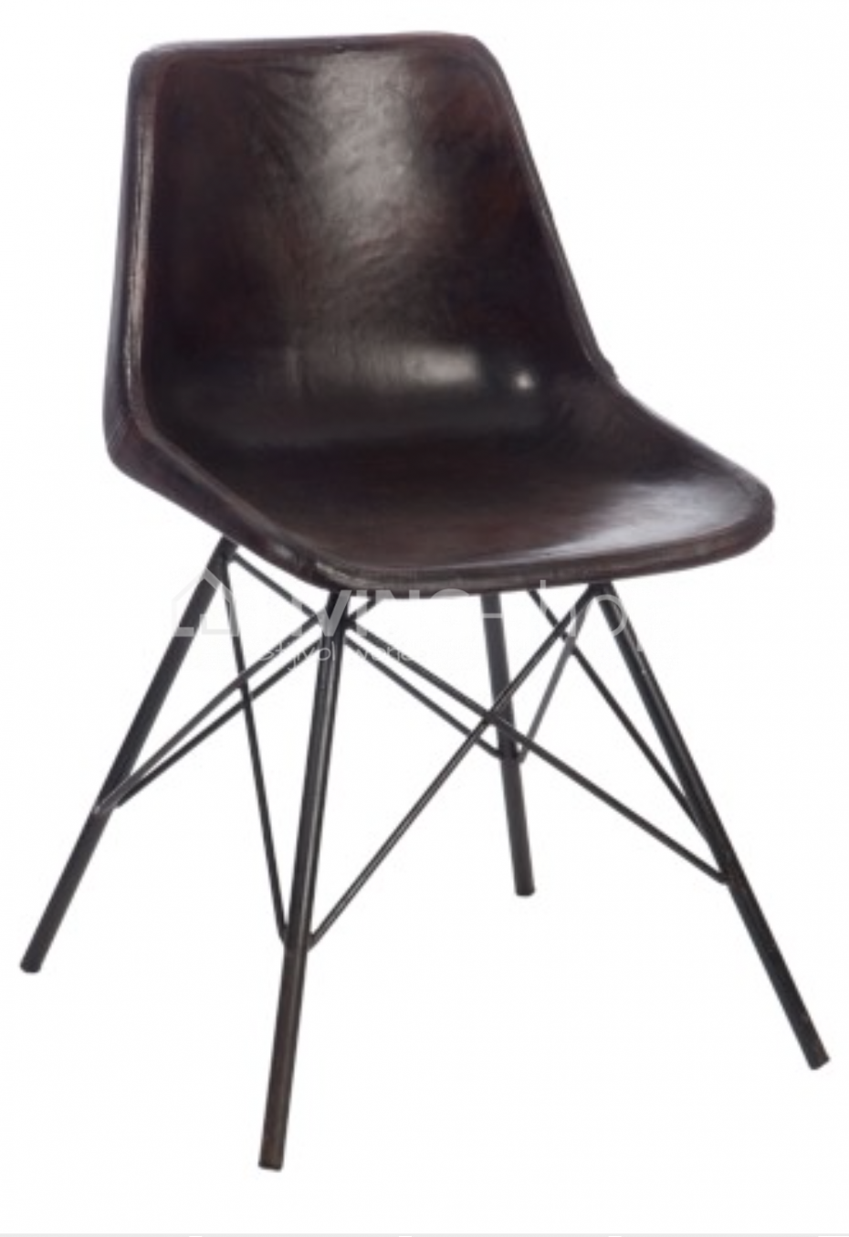 eames replica marron cuir vente en ligne living shop boutique web. Black Bedroom Furniture Sets. Home Design Ideas