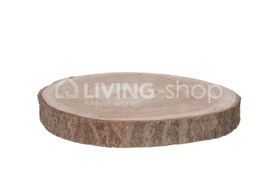 Boomstamschijf hout paulownia naturel j line for Boomstamschijven decoratie