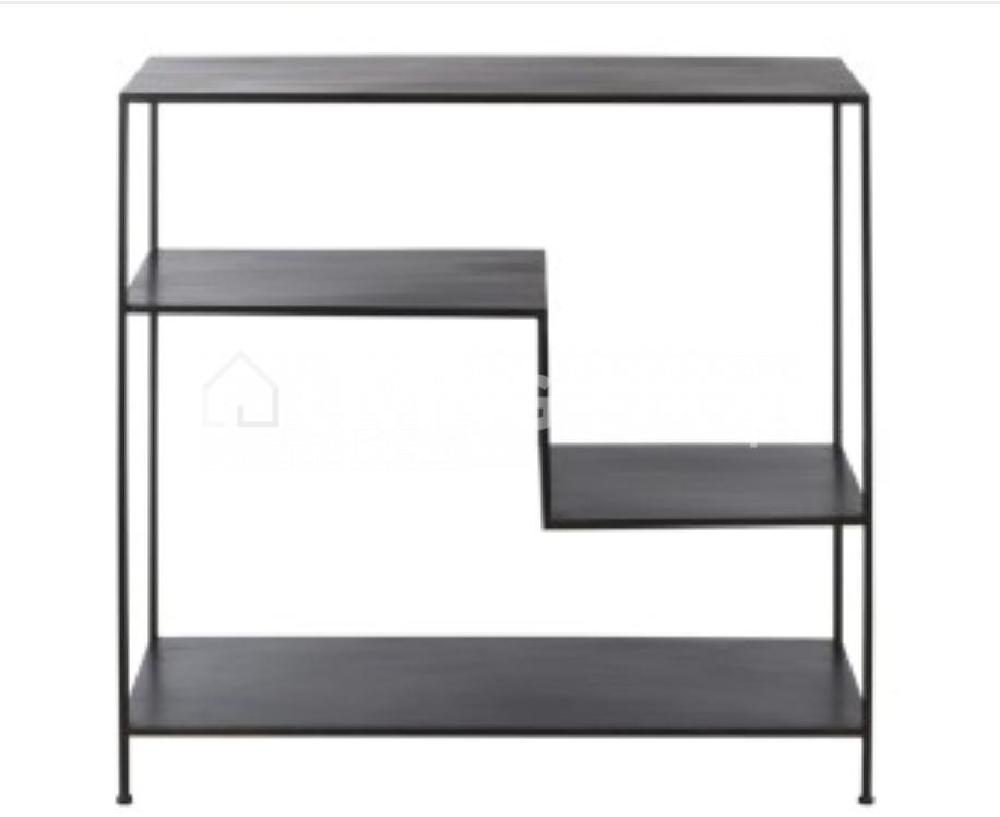 loft-stijl-deco-wandrek-of-wandtafel-zwart-metaal-J-LINE