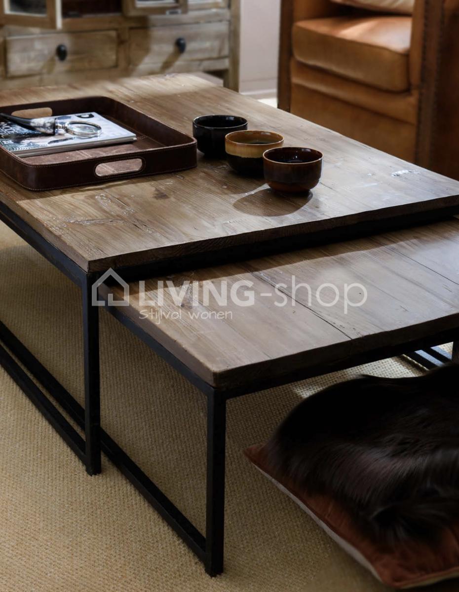 Salontafel Hout Landelijk.Loft Stijl Salontafels Nesting Tables Living Shop Loft