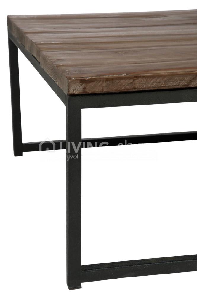 Salontafel Hout Met Ijzeren Onderstel.Loft Stijl Salontafels Nesting Tables Living Shop Loft Stijl Wonen