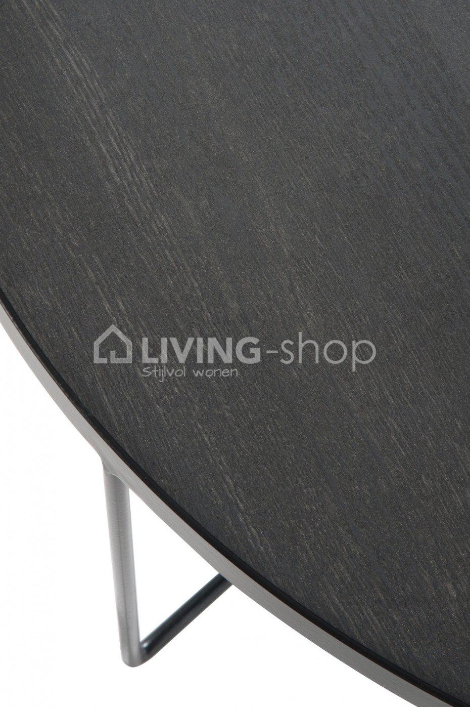 de j line salontafel retro hout metaal zwart j line kopen living j line webshop. Black Bedroom Furniture Sets. Home Design Ideas