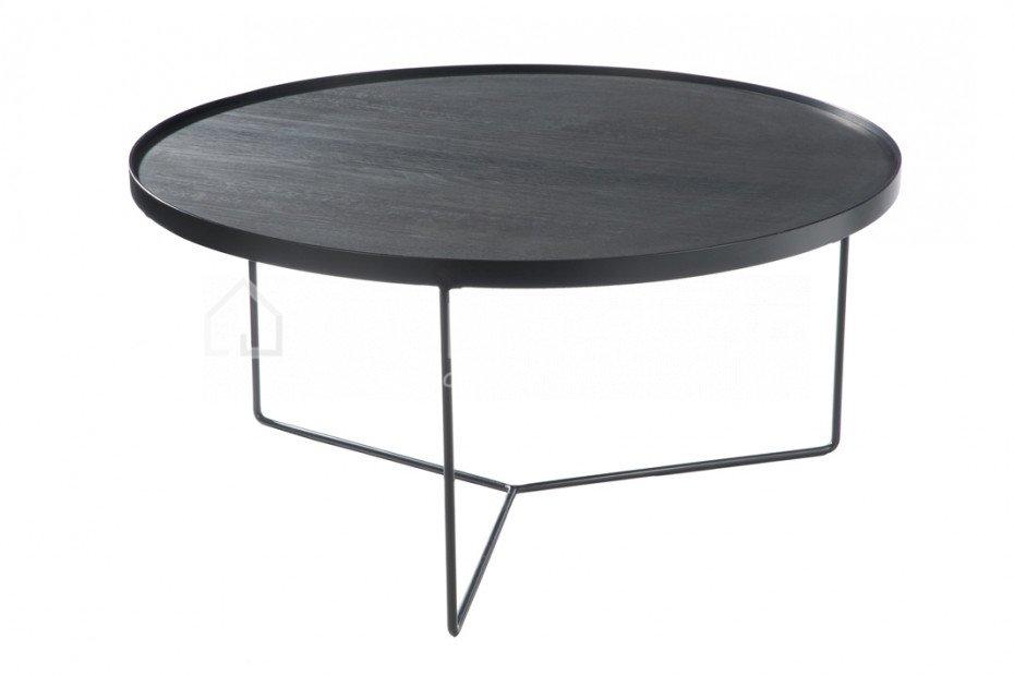 4e88ce5963cdd6 Vous cherchez la J LINE table basse en bois noir  LIVING-shop.fr J ...