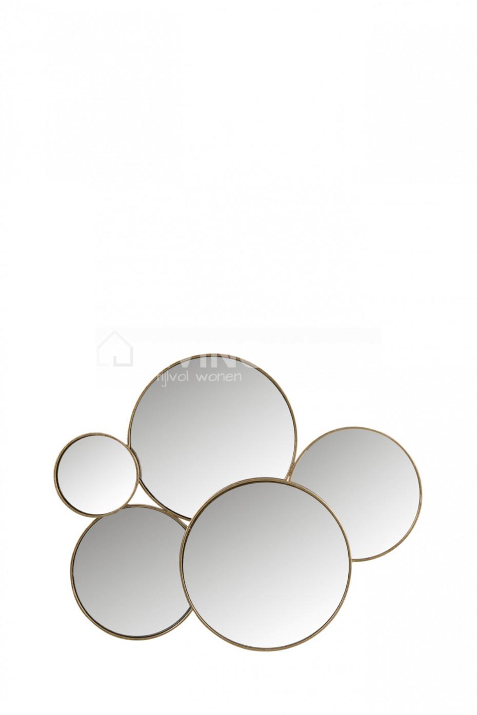 Déco Murale Miroir Cercles Doré J Line Déco Vente En Ligne At Living