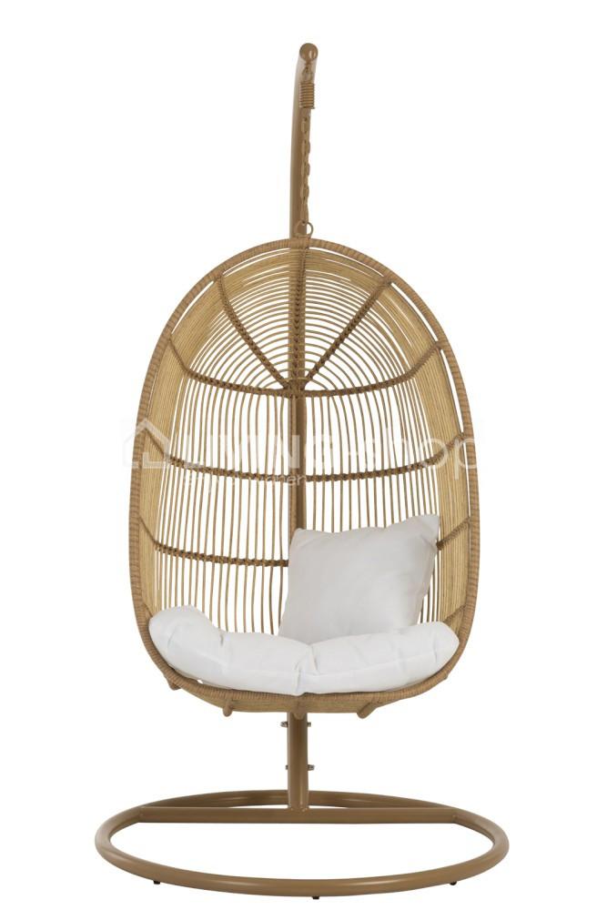 Hangstoel Egg Chair Wit.Hangstoel Egg Chair J Line Outdoor Furniture Online Kopen Living