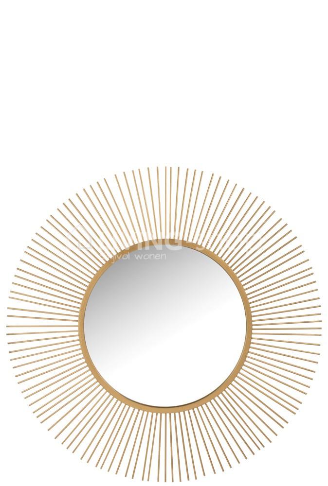 Country Style Sunburst Mirrors J Line, Round Sunburst Mirror