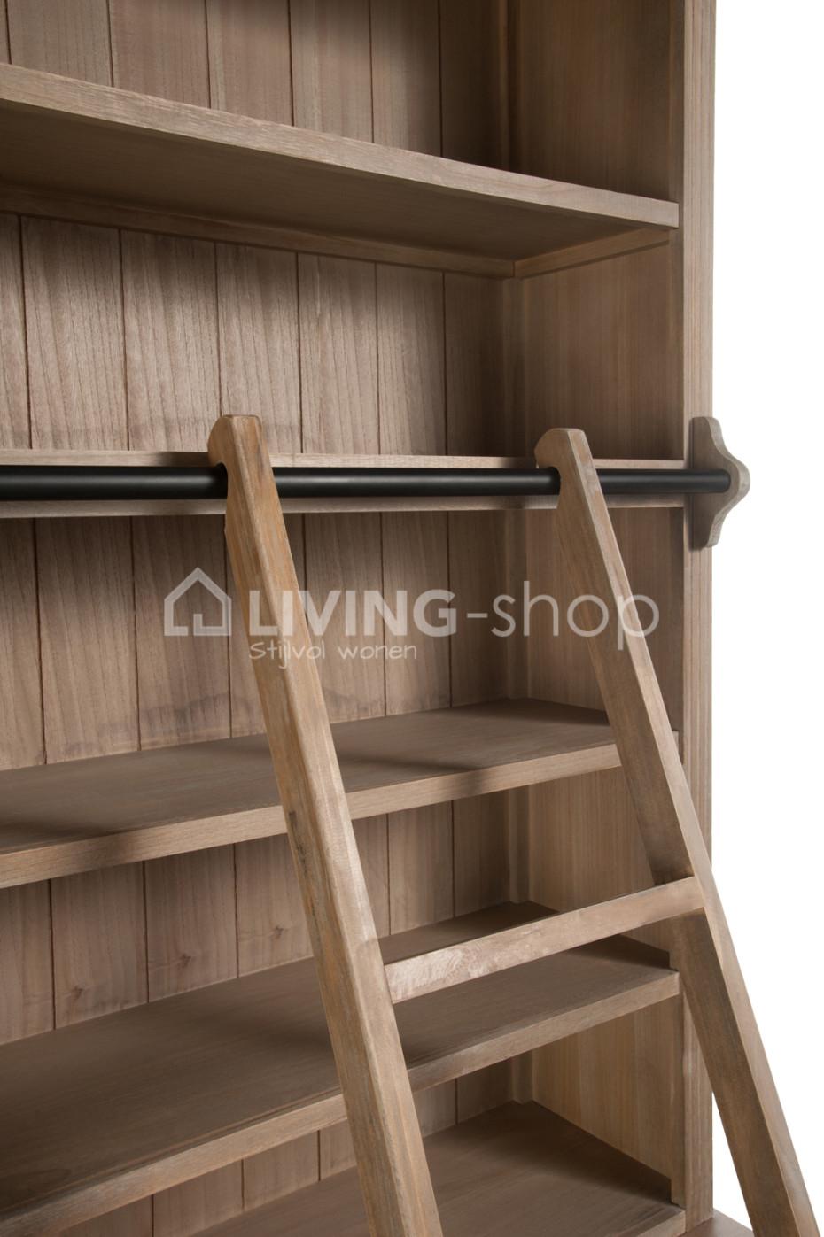 Fonkelnieuw Bibliotheekkast met ladder | WEBWINKEL BIBLIOTHEEKKASTEN QA-75