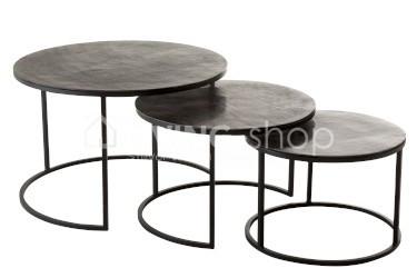 code promo 56434 28555 3 Nesting tables basses en aluminium J-line EN LIGNE ...