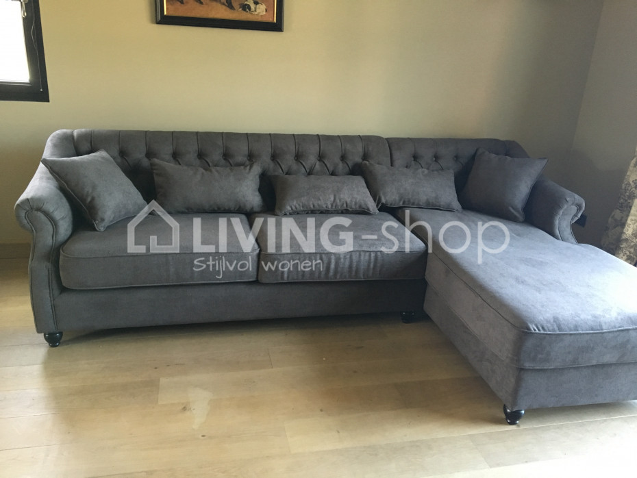 Peachy Chesterfield Sofas Met Longchair In Stof Living Shop Gmtry Best Dining Table And Chair Ideas Images Gmtryco
