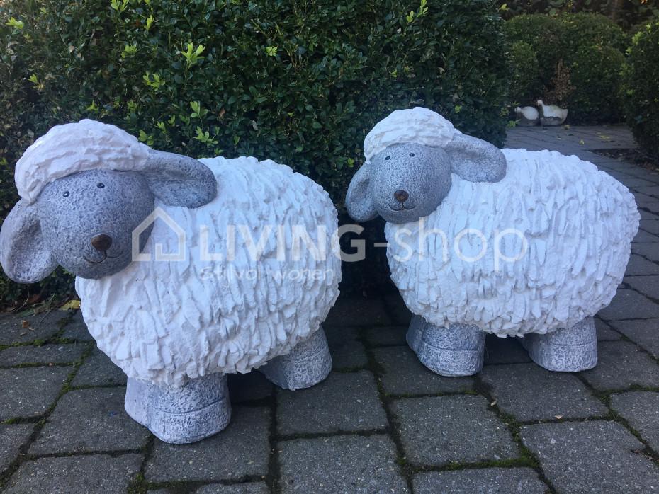 Betonnen Tuinbeelden Schaap.Mouton Sculpture S Et Mouton Sculpture L En Ligne Chez Living Shop