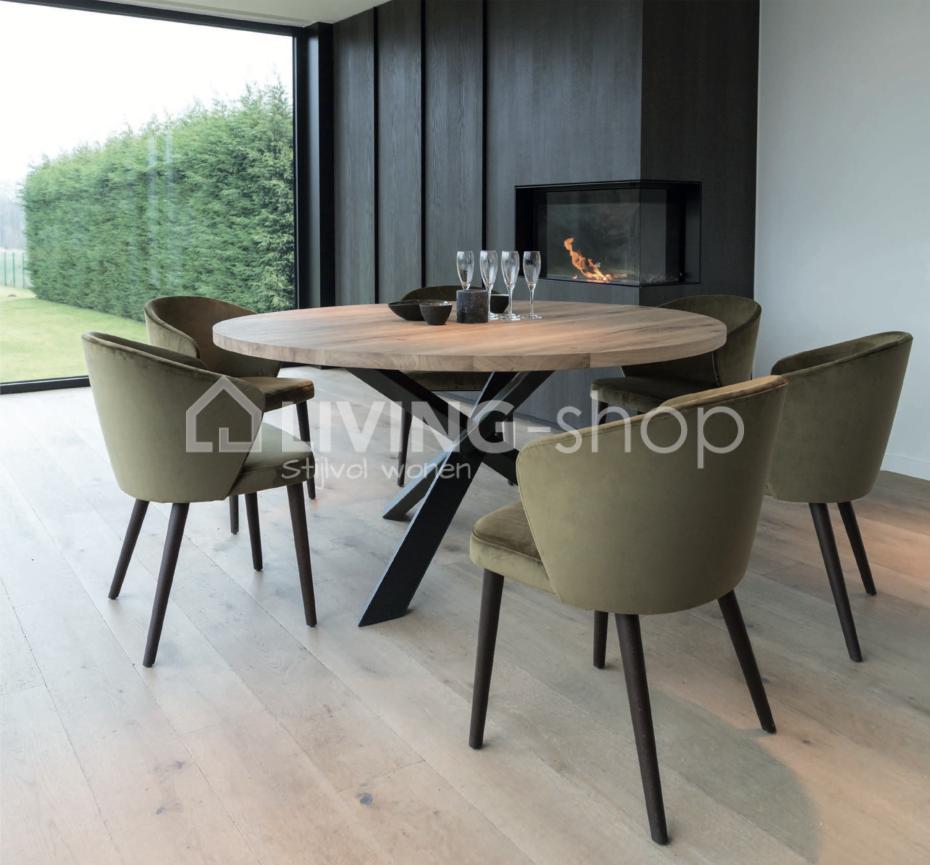 Ronde Eetkamertafel Modern.Ronde Eiken Eettafels Online Kopen Living Shop Stijlvolle Strak