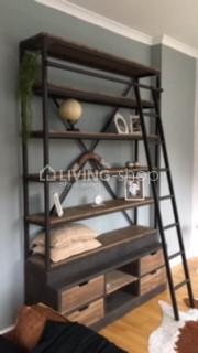 Verwonderlijk Wall bookracks - industrial library J-Line online   LIVING-shop TM-39