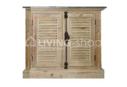 Badkamer Meubel Landelijk : Badkamermeubel landelijk louvre deuren old pine timeless living
