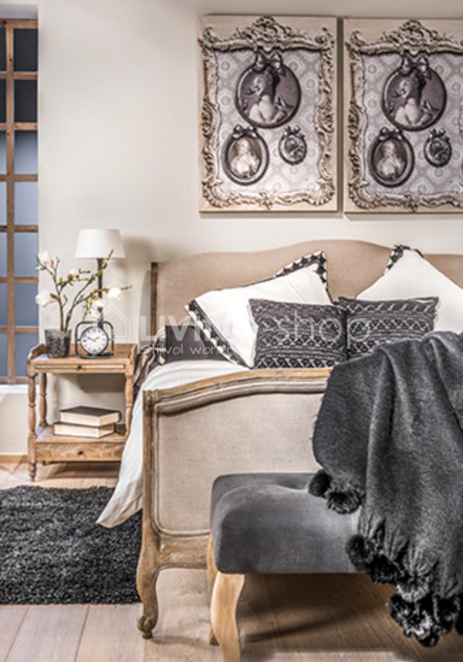 Bekend Eiken bed landelijke stijl online kopen #LIVING-shop, wonen @KL45
