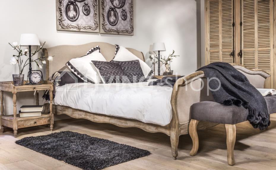 Eiken bed landelijke stijl online kopen #LIVING-shop, wonen ...