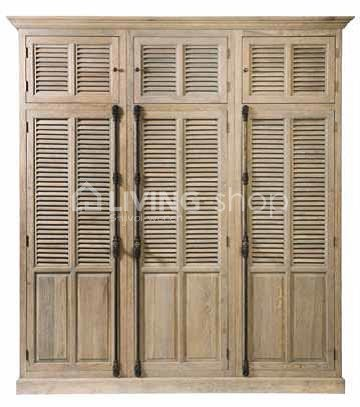 Wardrobe Cabinet Louvered Doors Oak By Timeless Living Online Living Shop Webshop