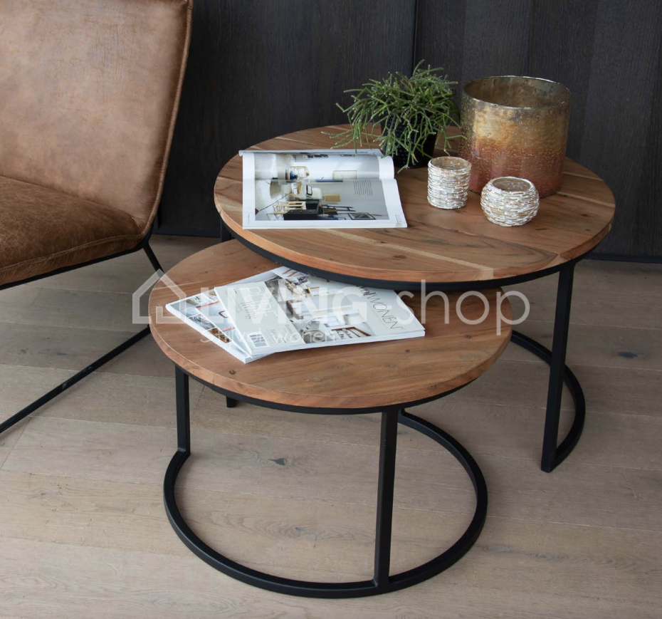 Modern Round Nesting Coffee Tables Shiva Online To Shop Living