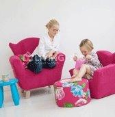 fauteuil-cozy-merk-ploem-stof-effen-blauw