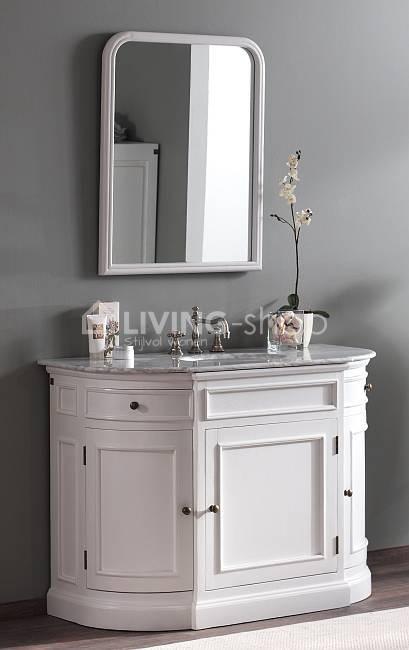 landelijke-witte-badkamerspiegel