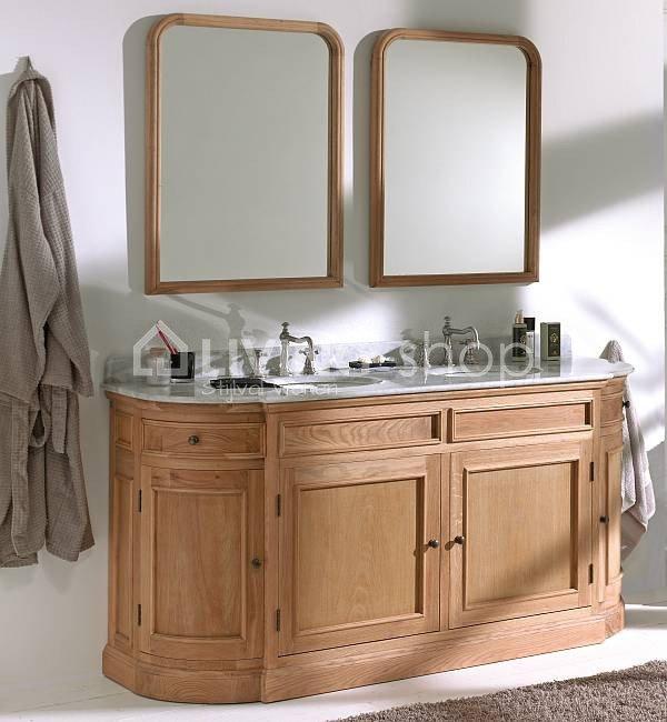 landelijk badkamermeubel dubbele lavabos wastafels online