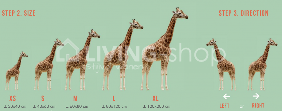 muursticker-giraf