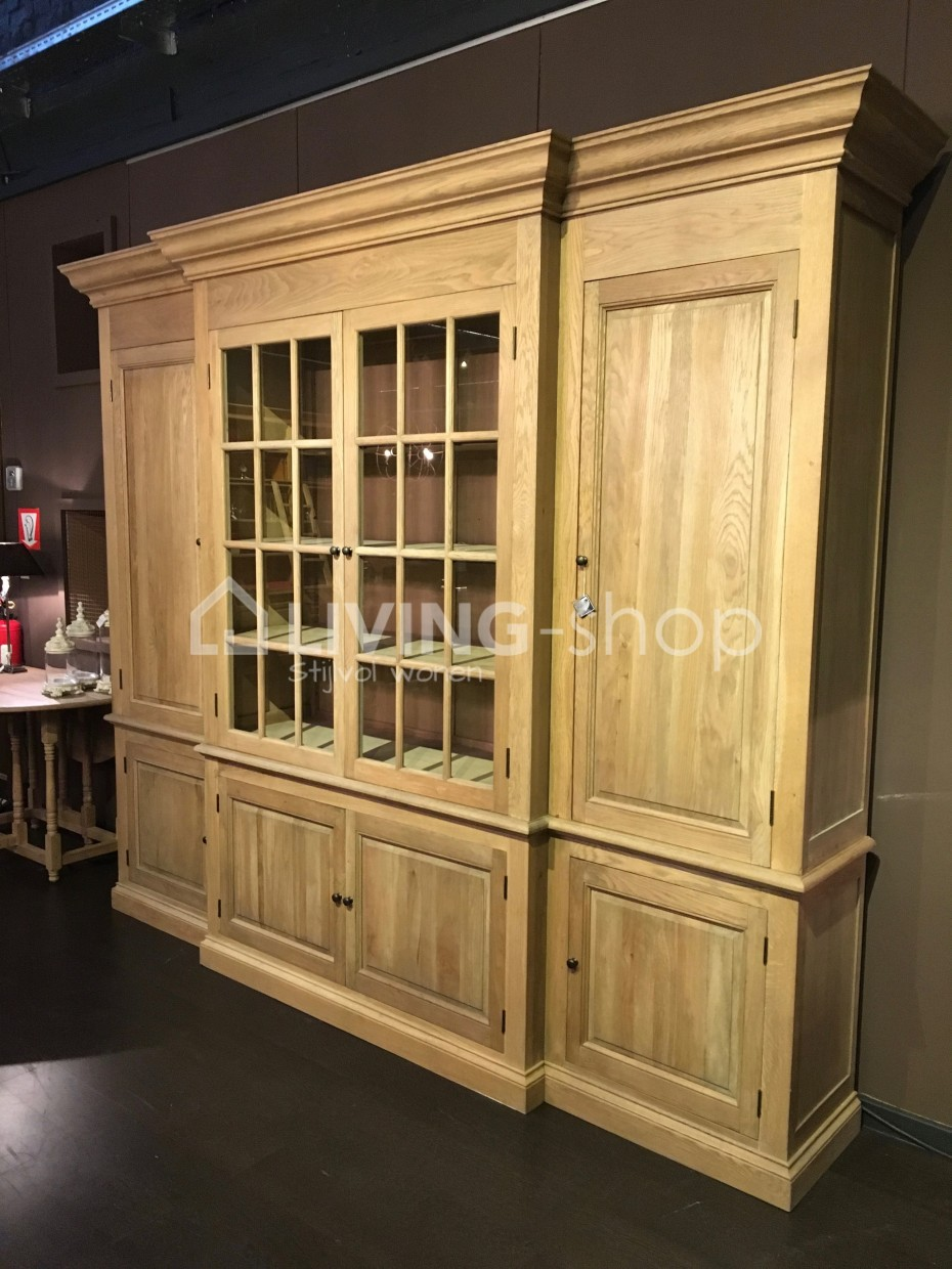 Oak Wall Cabinet 4 Doors Country Style
