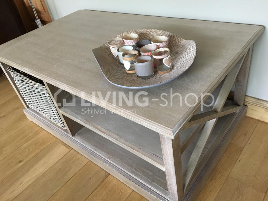 table basses avec panier table salon rustique en ligne living shop shop. Black Bedroom Furniture Sets. Home Design Ideas