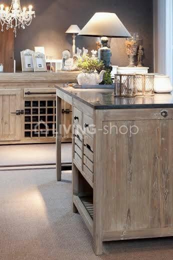 landelijke-stijl-keukeneiland-keukenblok-met-wijnrek