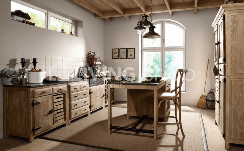 Keukens Landelijke Stijl : Landelijke stijl keuken met natuursteen lavabo living shop