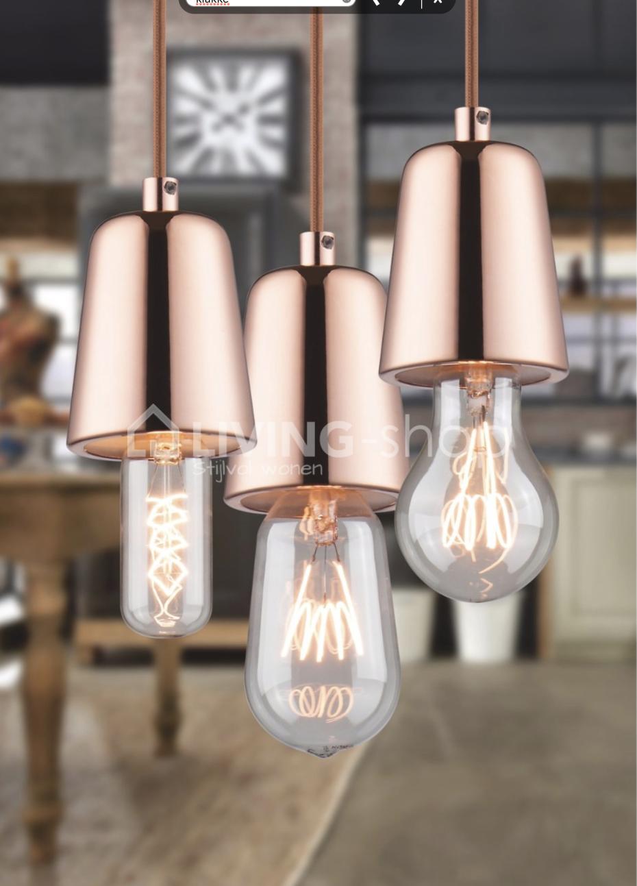 Pendel hanglamp koper little one
