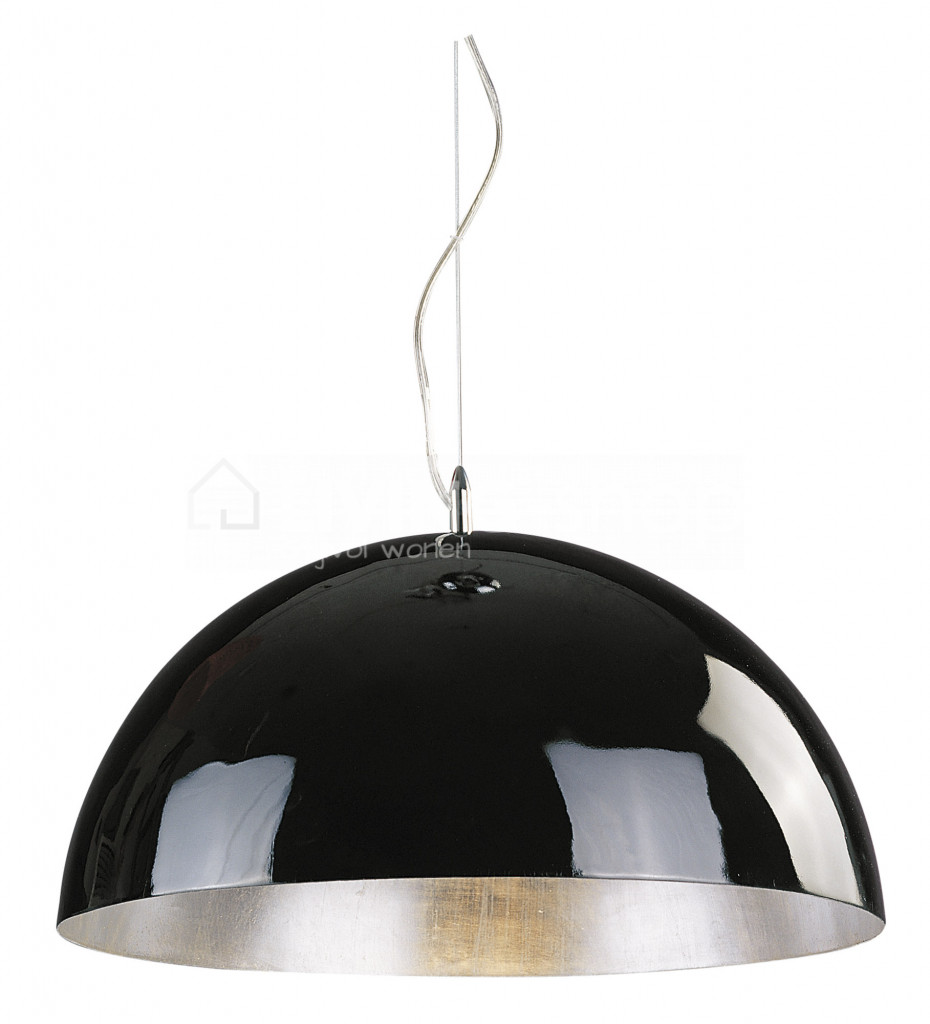 cupula-wit-zilver-polyester-dia-50cm-1x60w
