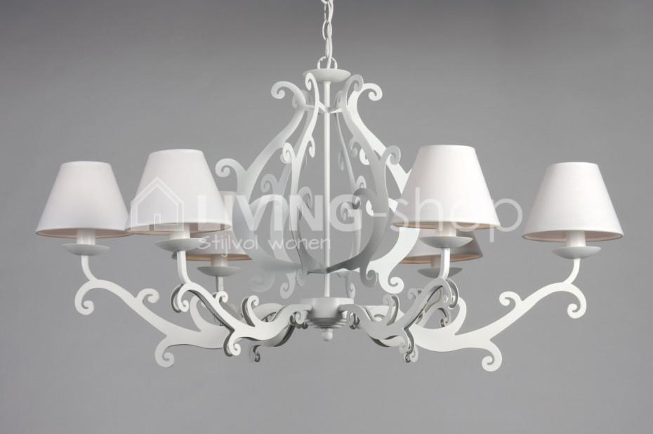 witte romantische luster mila online kopen in living shop. Black Bedroom Furniture Sets. Home Design Ideas