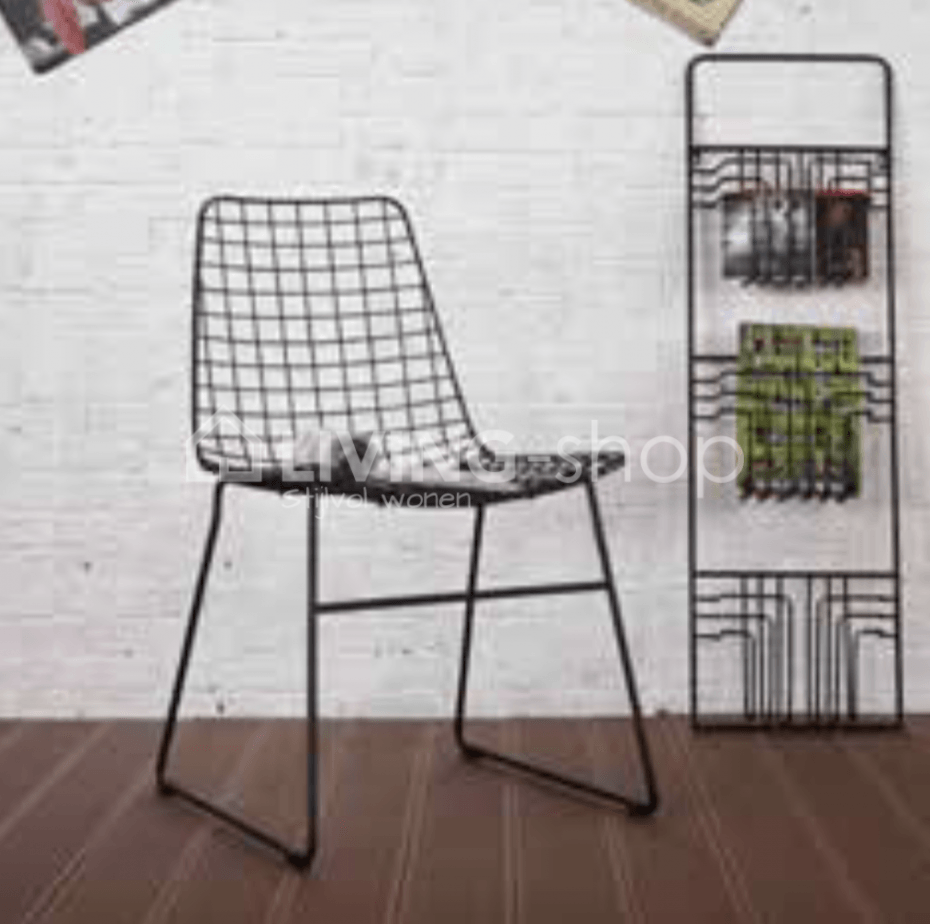 Stackable chairs Mara are dining chairs - metal wire design chairs ...