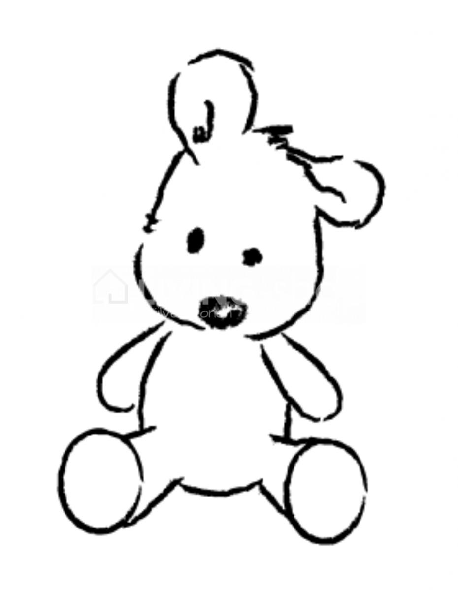 teddy-beer-muursticker-lou-friends