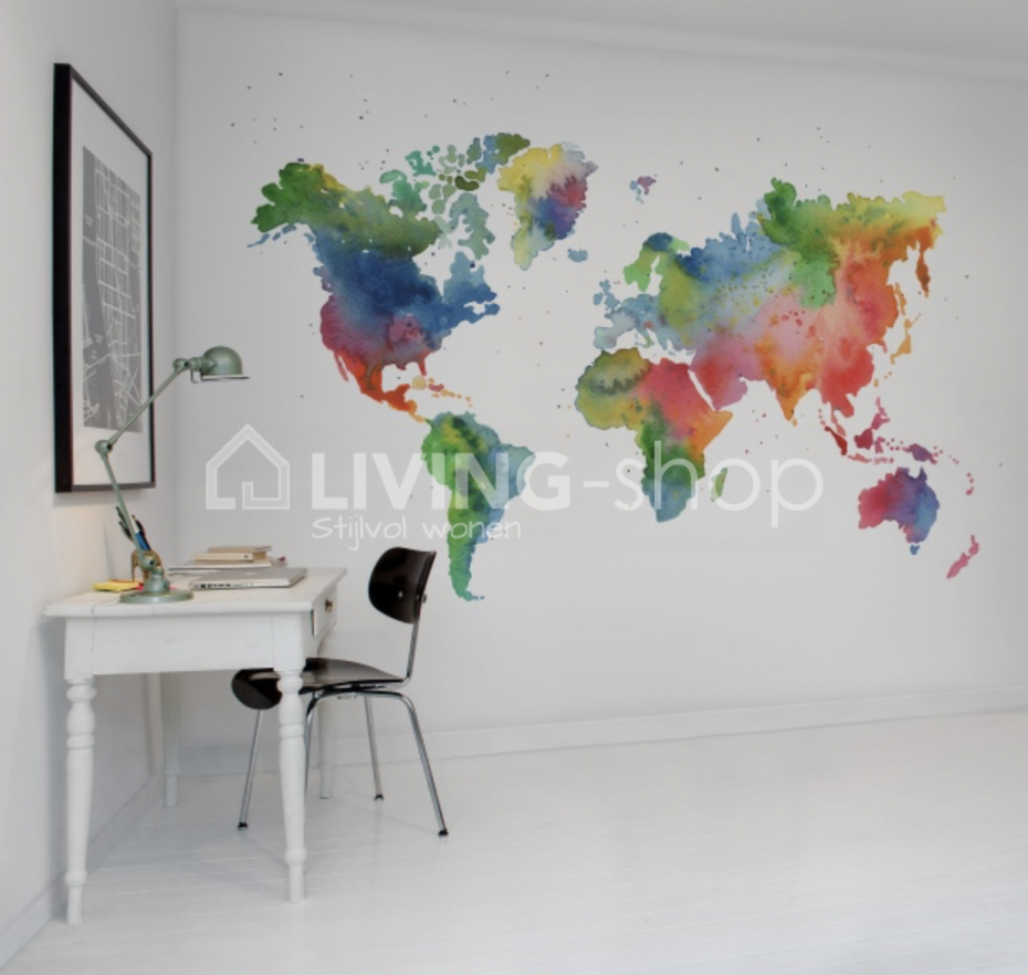 wereldkaart-behang-world-mural