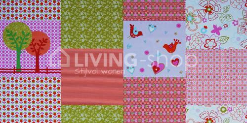 fauteuil-cozy-merk-ploem-stof-quilt-roze