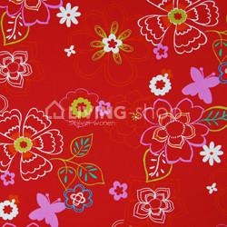 fauteuil-eazy-merk-ploem-stof-bloemen-rood