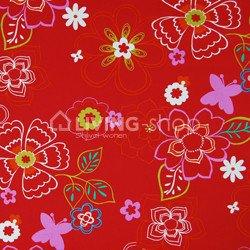 hocker-square-merk-ploem-stof-bloemen-rood