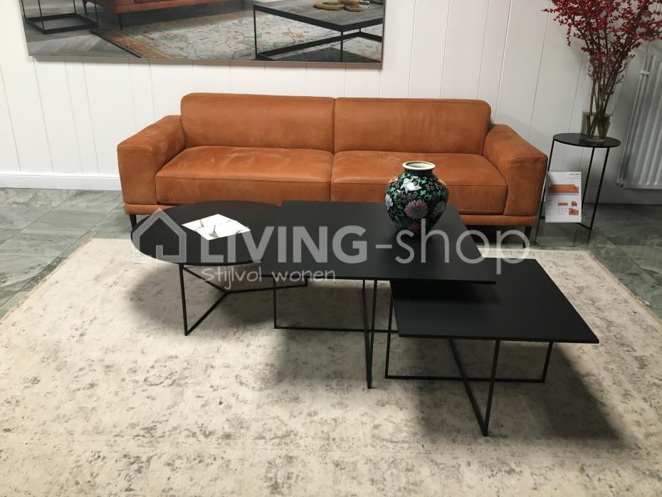 Zwarte metalen modena salontafel kopen living shop eu webshop
