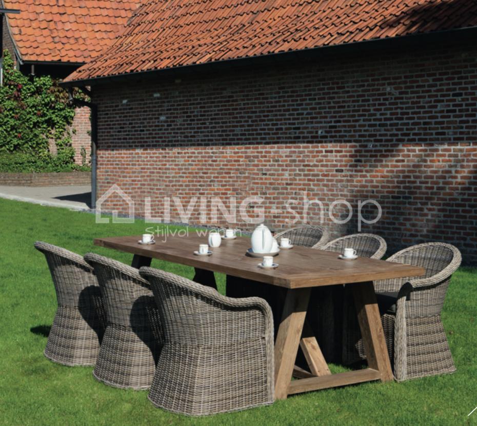 Uitgelezene Salvador fauteuil club sisal de Castle Line outdoor vente en ligne FW-43