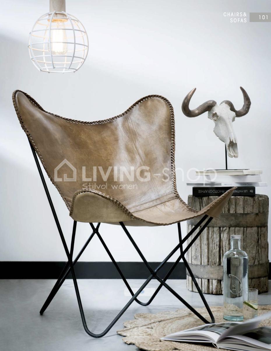 lounge-vlinderstoel-leder-bruin
