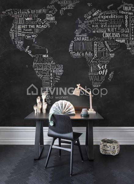 wereldkaart behang wanderlust