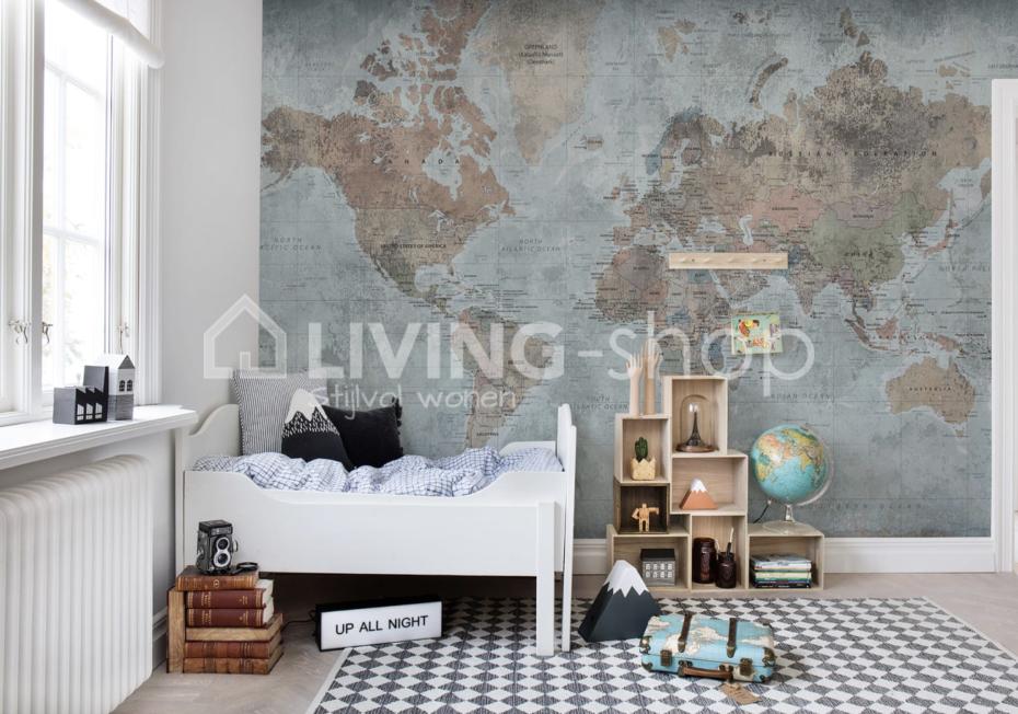 Wallpaper World Map Rebel Walls Living Shop Team Delivers All