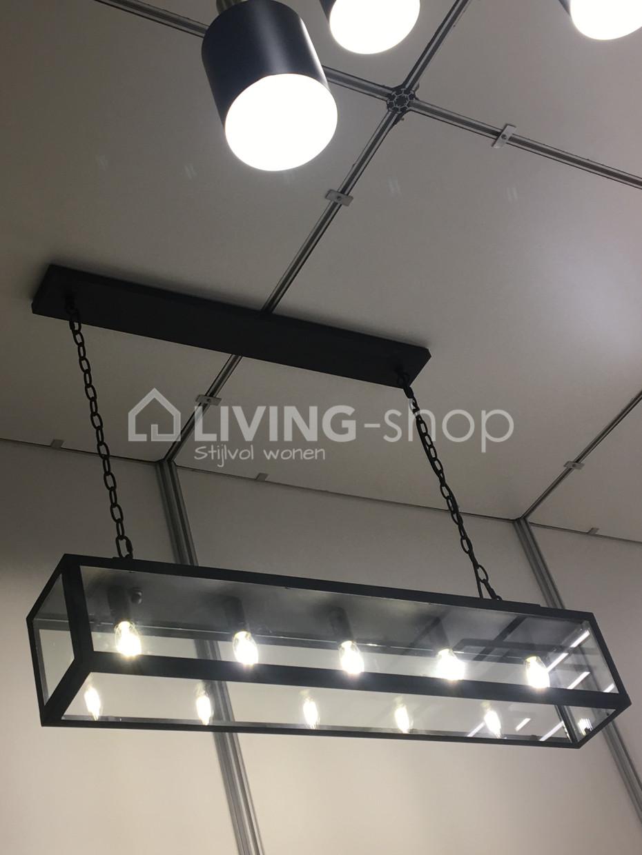 Fabulous Authentage model hanglamp rechthoek metaal ZENIA ZWART @ LIVING VH73